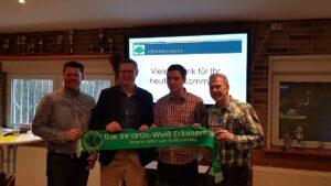Foto Bürgermeister Carsten Wewers mit dem Vorstand vom Förderkreis GWE in Oer-Erkenschwick beim Neujahrsempfang