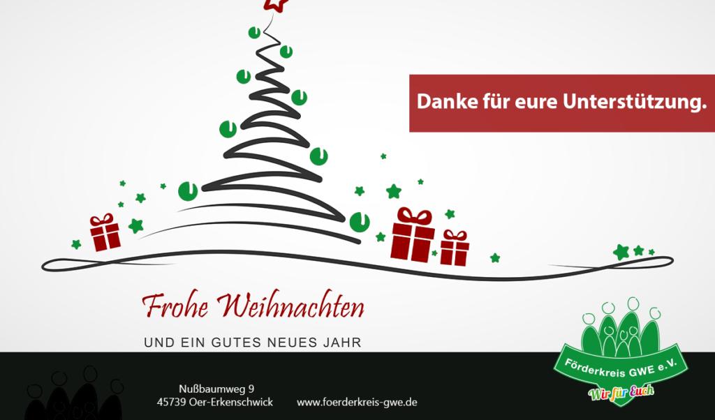Weihnachtsgruß Förderkreis GWE in Oer-Erkenschwick